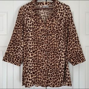 Vintage Cheetah Print Blouse Shirt